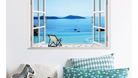 Samolepka na zeď - Výhled na pláž