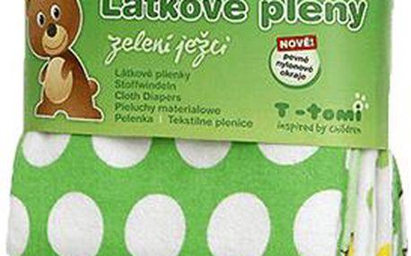 T-tomi Látkové pleny 4 ks, zelení ježci