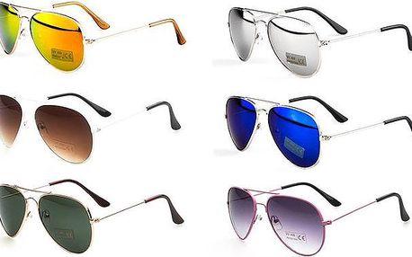 Dětské sluneční brýle pilotky v různých barevných variantách