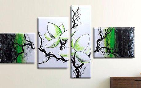 Ručně malované rozkvetlé obrazy