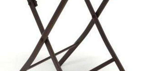 Zahradní balkonový set skládací bistro stolek + dvě židle3