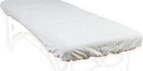 Povlak na masážní lehátko a opěrku hlavy bílý 100% bavlna