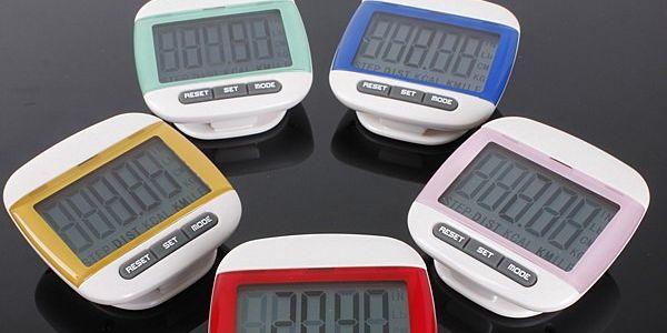 LCD digitální krokoměr - 5 barev