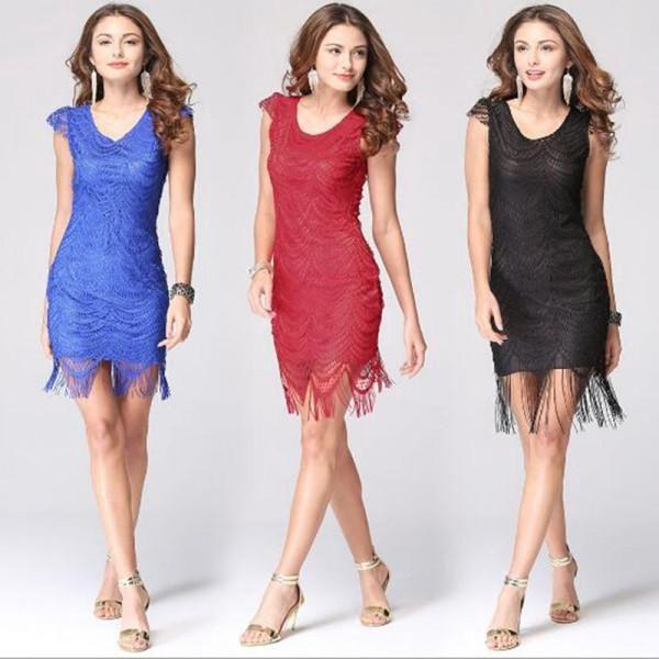 Dámské krajkové šaty s třásněmi Elena