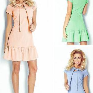 Dámské šaty s volánky a mašlí Evita
