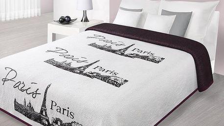 Přehoz na postel PARIS FRANCE 220x240 cm, bílá, Mybesthome