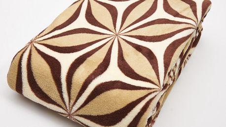 Deka z mikrovlákna CASIOPEA 150x200 cm béžová geometrický vzor Essex