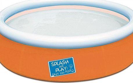 Bestway 57241 Nafukovací bazén 152x38cm - oranžový