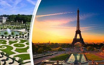 Paříž nabitá zážitky - s ubytováním. Užijte si 4 denní zájezd pro 1 osobu do Paříže s prohlídkou zámeckých zahrad Versailles, plavbou po Seině, prohlídkou města a koupáním v termálních lázních Amberg.Objevte krásy Paříže a nechte se okouzlit.