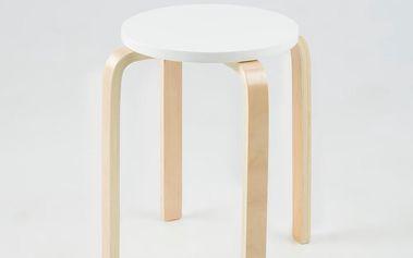 Odkládací stolek Emba, bílý