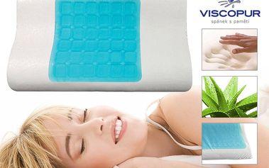 Anatomický polštář VISCOPUR® COOL GEL s gelovou vrstvou profilovaný Velikost: 40x60 cm