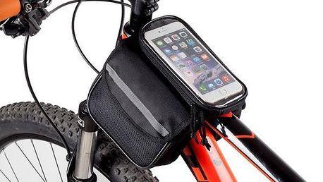 Taška na kolo s pouzdrem na dotykový telefon - skladovka - poštovné zdarma