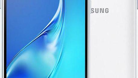 Samsung Galaxy J3 (2016) Dual Sim, bílá - SM-J320FZWDETL + Zdarma SIM karta Relax Mobil s kreditem 250 Kč