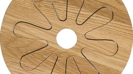 Dvojitá podložka pod horké nádoby Oval Oak Sagaform