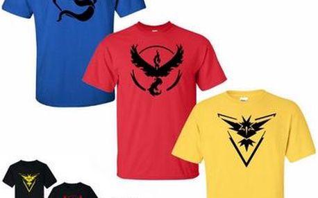 Pokémon - trička s týmem - 4 styly
