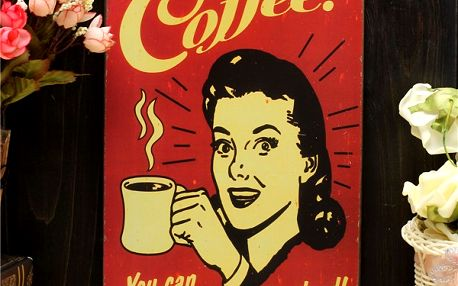 Retro cedule - Coffee