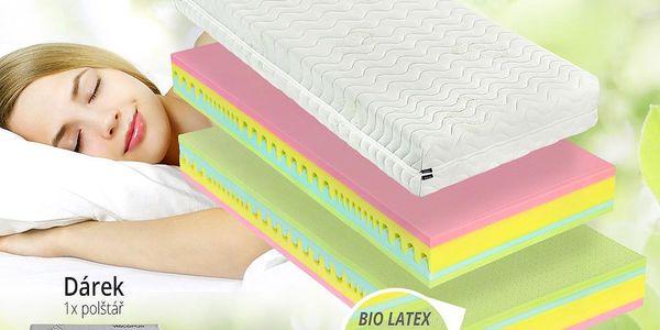 Ortopedická latexová matrace Dreampur® RAINDROP 22cm + paměťový polštář zdarma Velikost: 90x210 cm - 1ks