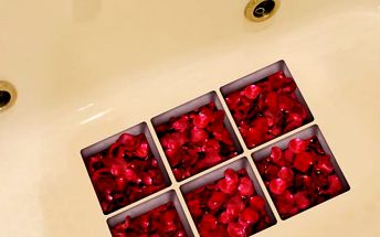 Protiskluzové 3D nálepky do vany - 6 kusů