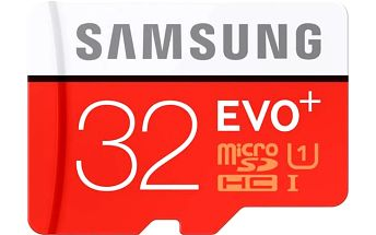 Samsung EVO PLUS Micro SDHC 32GB + adaptér (MB-MC32DA/EU)