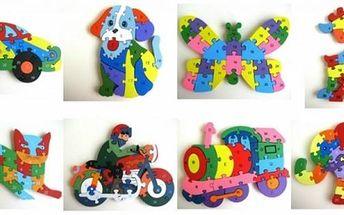 Dřevěné puzzle pro děti, výběr z několika motivů. Na jedné straně jsou číslice a z druhé písmenka. Sestavováním si děti procvičují logické uvažování a představivost. Skládání puzzlí rozvíjí prostorovou představivost a jemnou motoriku.