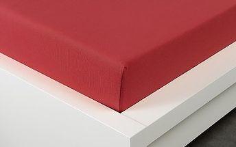 XPOSE ® Bambusové jersey prostěradlo jednolůžko - vínová 90x200 cm