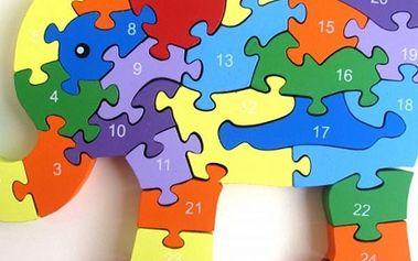 Dřevěné puzzle pro děti, výběr z několika motivů. Procvičují logické uvažování a představivost.
