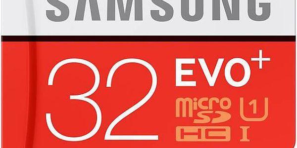 Paměťová karta Samsung Micro SDHC EVO+ 32GB UHS-I U1 (80R/20W) + adapter (MB-MC32DA/EU)