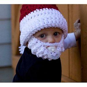 Vousatá čepice pro děti - Santa Claus