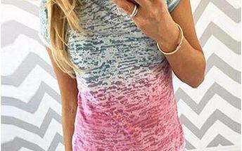 Dámské dvoubarevné tričko Ellen