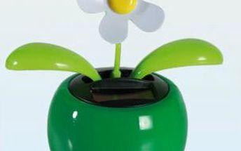 Solární tančící kytička - zelená