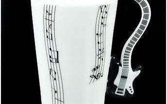 Kytarový hrnek - černá