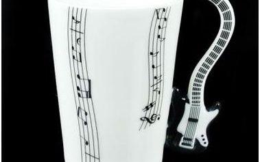 Kytarový hrnek 220 ml - černá