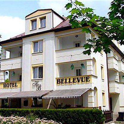 Pobyt pro dva s polopenzí v Hotelu Bellevue na 3 nebo 5 dní. Míchaný nápoj, vířivka, odpolední káva.