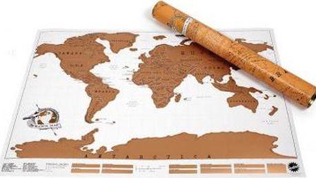 Stírací mapa světa