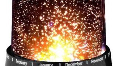 Projektor noční oblohy - hvězdy - černá