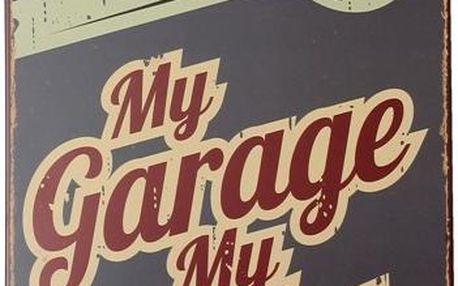 Cedulka s nápisem My Garage My Rules - poštovné zdarma