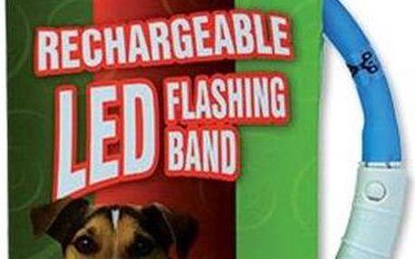 Dog Fantasy obojek světelný světle modrý 45 cm
