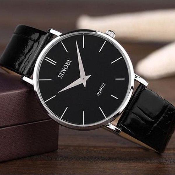 Ultra tenké pánské hodinky ve 3 barvách