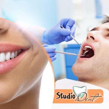 60minutová dentální hygiena s vyšetřením, leštěním zubů a možností fluoridace na Praze 10.