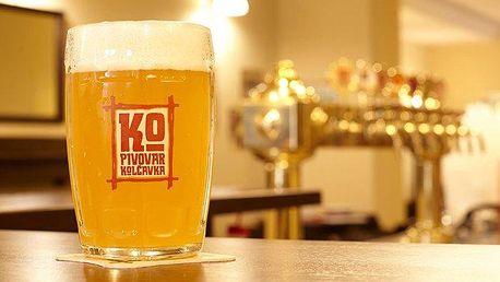 2 až 6denní pobyt pro 2 s prohlídkou pivovaru Kolčavka v Praze
