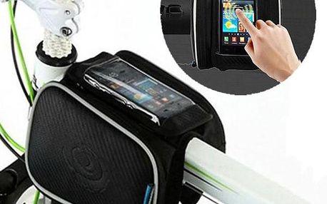 Cyklistická brašna na rám jízdního kola s kapsou pro telefon - dodání do 2 dnů