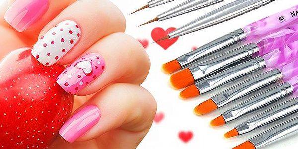 Extra tenké štětce nebo sada štětců pro snadnou a originální dekoraci nehtů