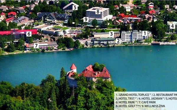 Slovinsko - Bled na 2 až 4 dny, polopenze s dopravou vlastní