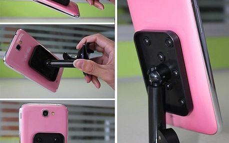 Stojánek na mobil s přísavkou - černá - dodání do 2 dnů