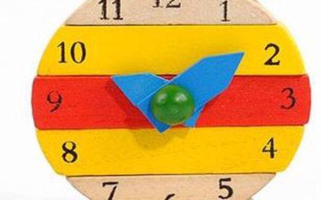 Dětské hrací hodiny ze dřeva