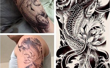 3D dočasné tetování - kapr