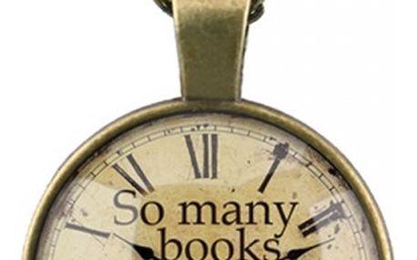 Náhrdelník s motivem pro knihomoly - dodání do 2 dnů