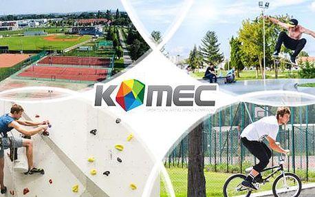 Přenosná permanentka na služby sportobního areálu Brno Komárov s neomezenou platností