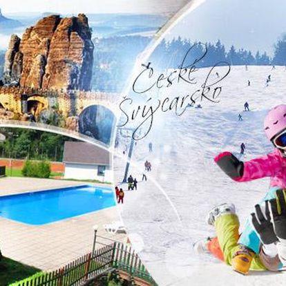 České Švýcarsko na 3-6 dní pro 2 osoby s polopenzí, saunou a bazénem, platí do 30.6.2017