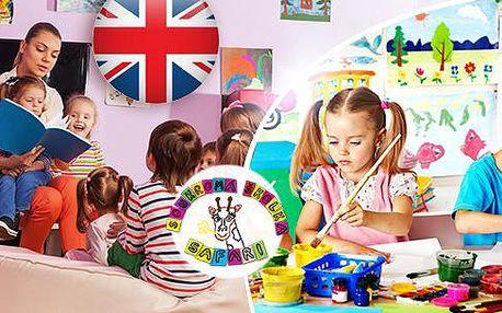 Dětská školička Safari v Plzni - hlídání dětí od 3 do 6 let s výukou AJ na 1 měsíc